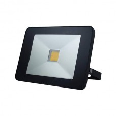 LED FLOOD LIGHT 30W MET BEWEGINGSMELDER ZWART, NEUTRAALWIT