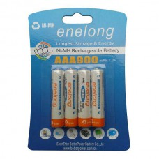 ENELONG HERLAADBARE BATTERIJ NIMH READY TO USE 4 X AAA 900MAH BLISTER
